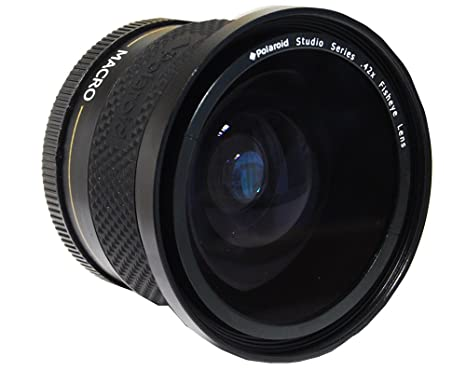 473e2387d796 Amazon.com : Polaroid Studio Series .42X HD Fisheye Lens 58mm : Camera  Lenses : Camera & Photo