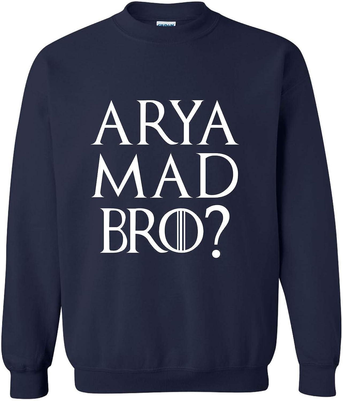 Allntrends Adult Sweatshirt Arya Mad Bro Cool Popular Fans Top 3XL, Navy Blue