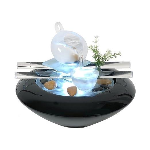 Zen Luz SCFV01 Tea Time Fuente Interior Negro 25 x 25 x 20 cm
