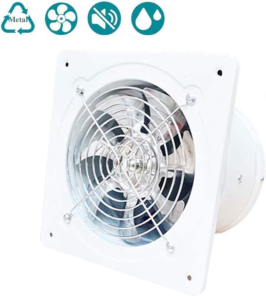 150 mm/6inch Ventilador de Escape Motor de alambre de cobre de doble bola Para Montar en la Pared, bajo Ruido, para el hogar, baño, Cocina, Garaje, ventilación de Aire, 780m³/h