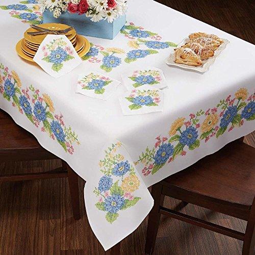 Herrschners® Adeline Floral Table Linens Stamped Cross-Stitch - Floral Stamped Cross Stitch