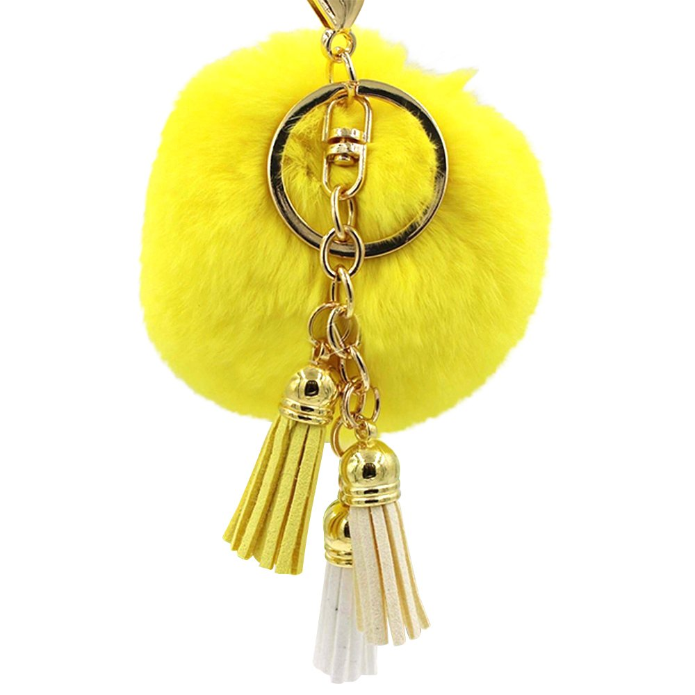 Finance Plan The Latest Cute Rabbit Fur Ball Tassel Car Keychain Fashion Furry Pendant Handbag Keyring