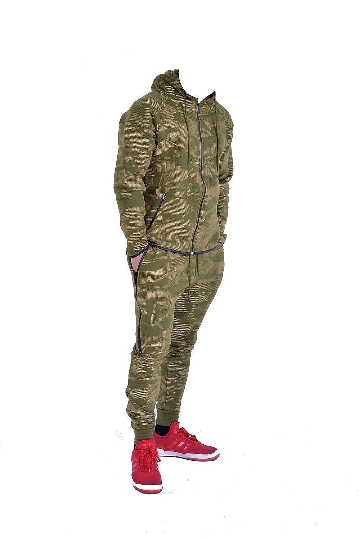 Mymixtrendz/® Kids Sports Military Camouflage hododied Tracksuit 2/Piece Contrast