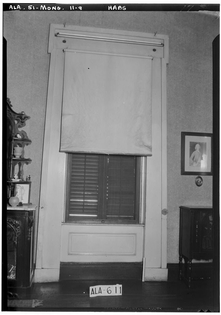 8 x 12 Photo 8. Historic American Buildings Survey W. N. Manning, Photographer, October 23, 1935 Window Treatment in Parlor - Bibb-Goldthwaithe-Arrington House, 203 Church Street, Montgo 1888 44a