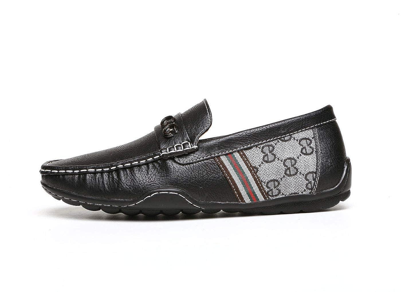 Hombre Negro Marrón GG Diseñador Sin Cordones Casual Verano Mocasines Conducción Moda zapatos núm. RU