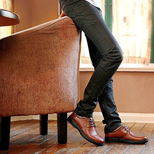 Mens Oxfords Stringate In Pelle Sintetica Scarpe Scarpe Eleganti Scarpe Casual In Pelle Nere