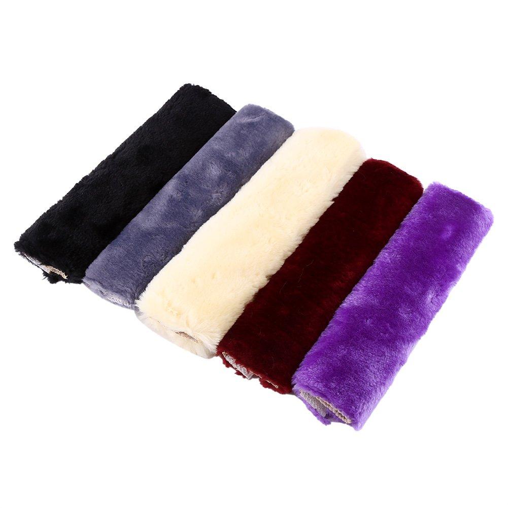 2Pcs Car Shoulder Pads Plush Seat Belt Protcvtive Case Harness Cover Strap Belt Color : Purple