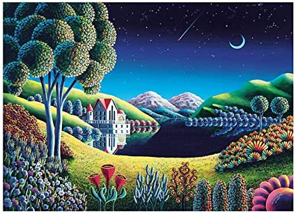 RUIKA Jigsaw Puzzle 1000 Piece for Adults and Children Puzzle Classic Puzzle Landscape Warm Christmas DIY Collectibles Modern Home Decoration