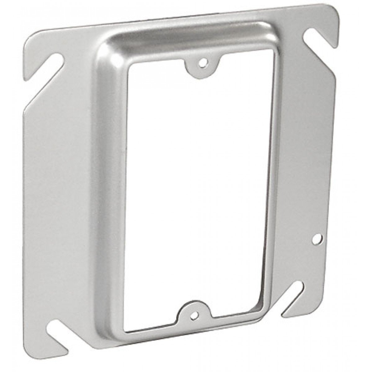 10 Pcs, Steel 4 Square Device Ring, One Gang, 1/2 In. Raised to Move Switch, Outlet Or Plug to One Side Of Box Away From Obstacles Present On Job, Or For Easier Wiring Access