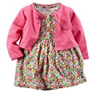 Carter's Baby Girls' 2 Piece Floral Dress Set Pink/Flowers-NB
