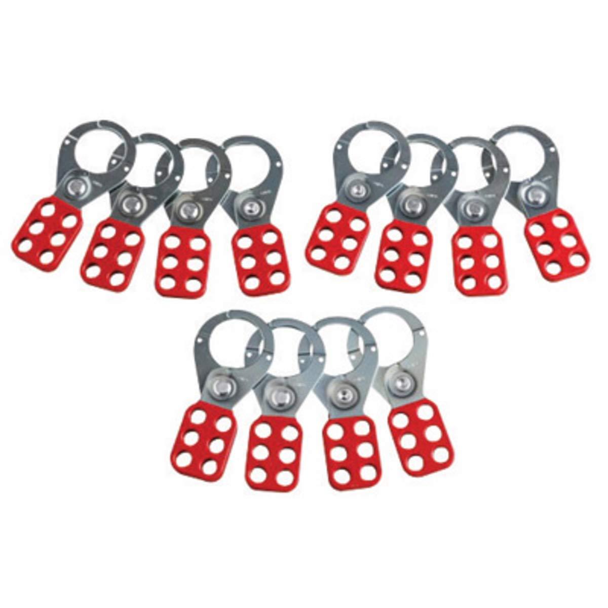 Brady Red Steel Lockout Hasp (12 ea)