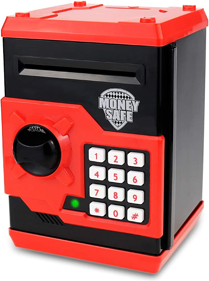 YYZZ Piggy Bank,DC Batman Coin Bank Piggy Bank Black Cute Cartoon Money Saving Box Kids Gift Home Decro