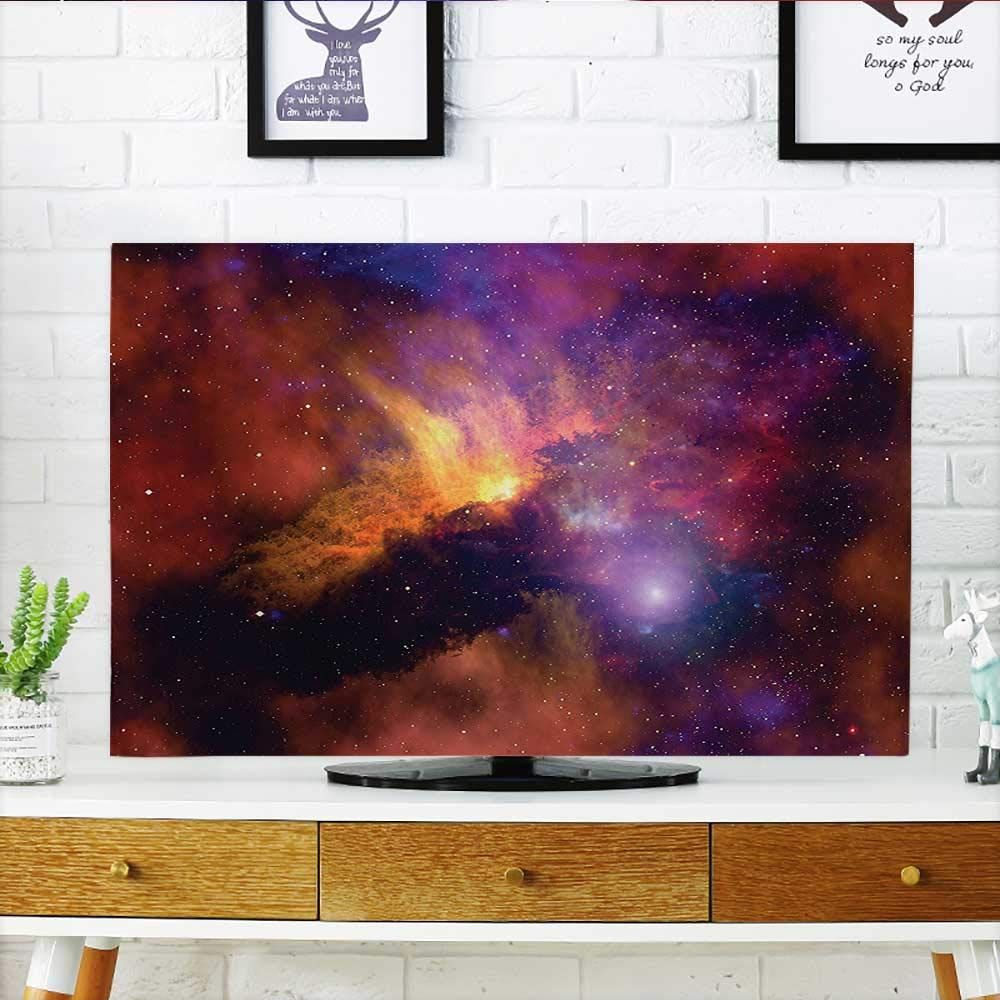 Jiahonghome Protect Your TV Collection Space Stars and Nebula Gas and Dust Cloud Celestial Solar Galacy System Protect Your TV W19 x H30 INCH/TV 32''