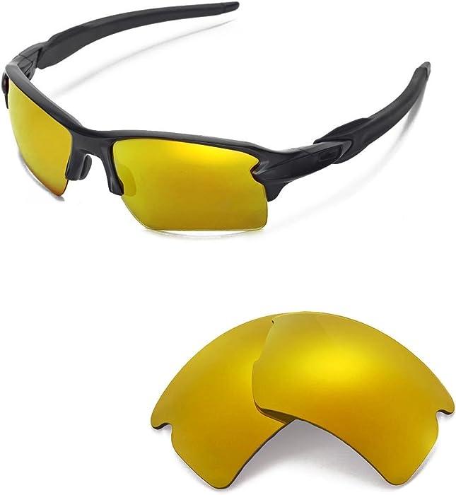 bacacc6b238 Walleva Replacement Lenses Oakley Flak 2.0 XL Sunglasses - Multiple Options  (24K Gold Mirror Coated - Polarized)  Amazon.co.uk  Clothing