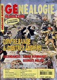 Généalogie magazine [n° 217, août 2002] Contrebande & contrebandiers par Généalogie magazine