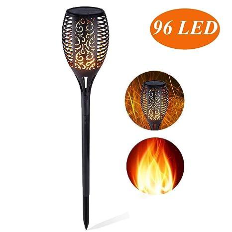 Solarleuchte garten fackeln,solar fackel mit USB Aufladen /& Wasserdicht Solar Garten Beleuchtung Garten Licht Automatische Ein//Aus