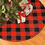 AHOOCUSTOM 48 Inch Orange-Red and Black Christmas