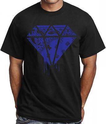 Amazon Com Calidesign Men S Blue Rag Bandana T Shirt Hip Hop Urban