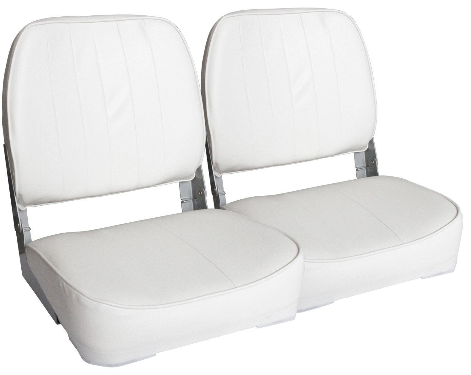 Leader Accessories A Pair of New Low Back Folding Boat Seats(2 Seats) (White) by Leader Accessories