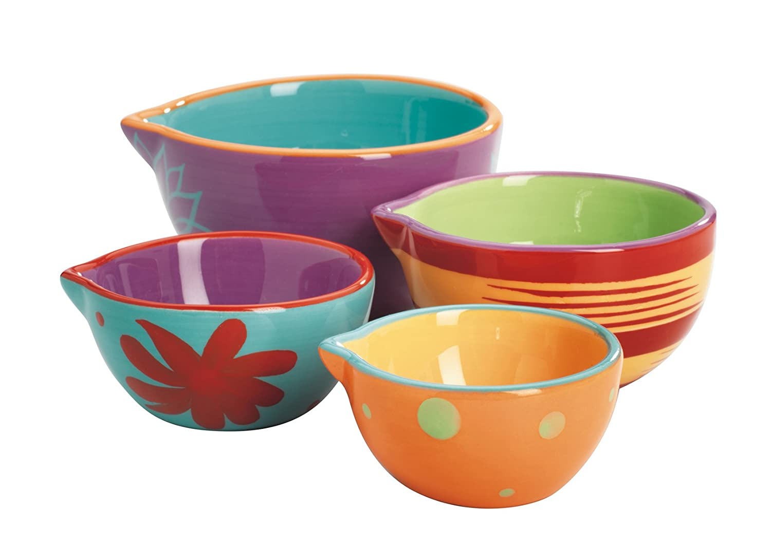 Nesting bowl set stacked bowls ready for baking day for Sur la table mixing bowls