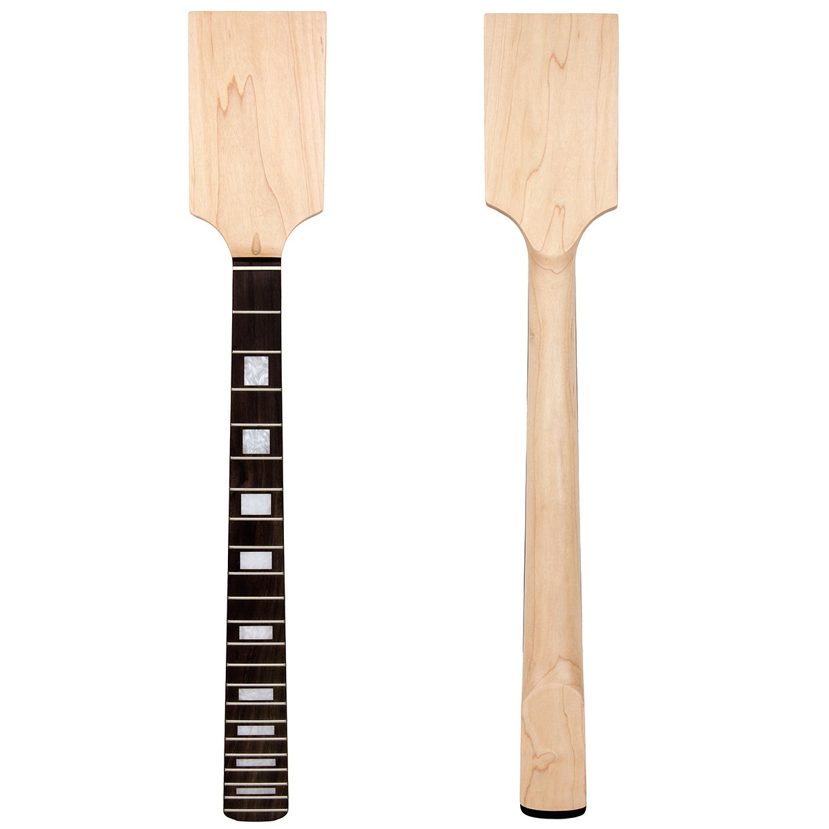 Kmise Electric Guitar Neck Paddle Headstock Unfinished DIY Parts Replacement Maple 22 Fret MI0464