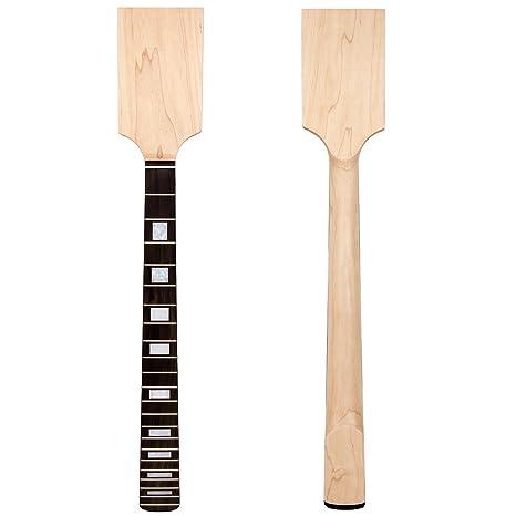 Mástil de guitarra eléctrica Kmise, con cabeza palisandro de arce,