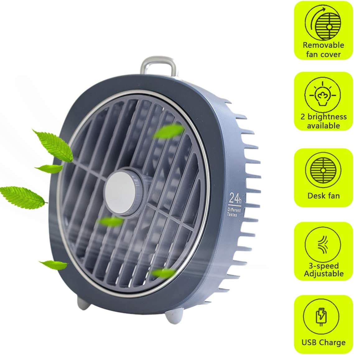 Blue Mini Table Personal Fan,Portable USB Fan,High Compatibility,360 Rotation,Quiet Operation with 3 Speed for Home and Office Gifort USB Fan