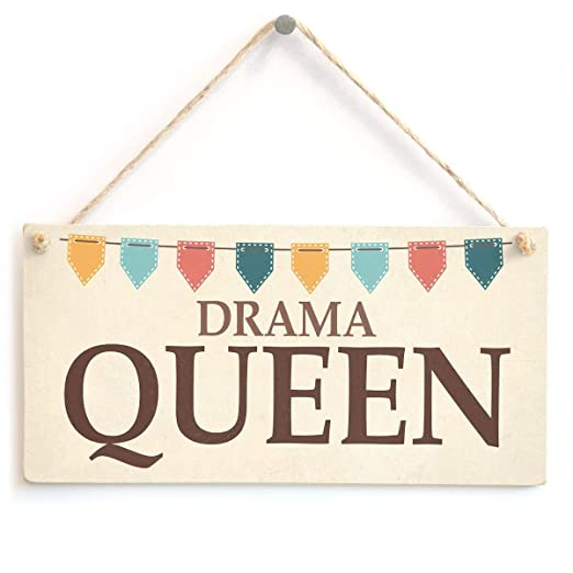 ECONG Drama Queen Placa de Madera Cartel de Madera Arte de ...