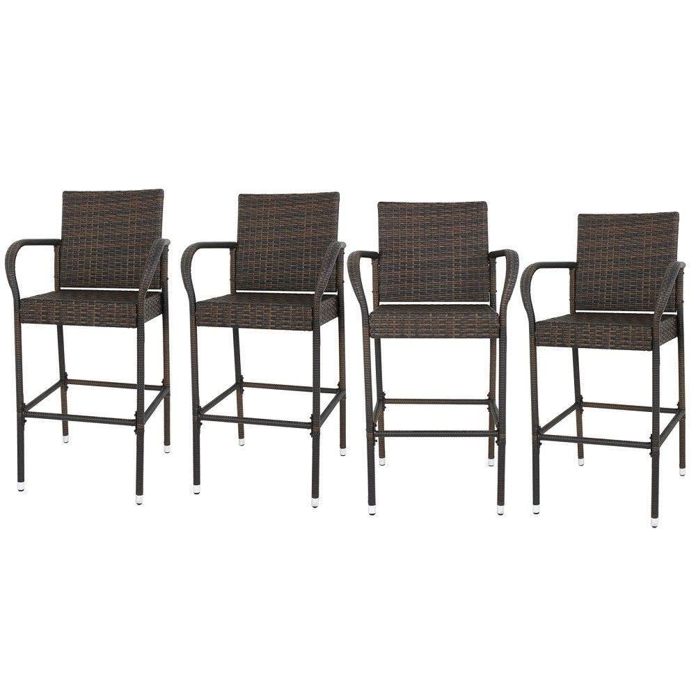 4 pcs Rattan Armrest Chair #GSMN
