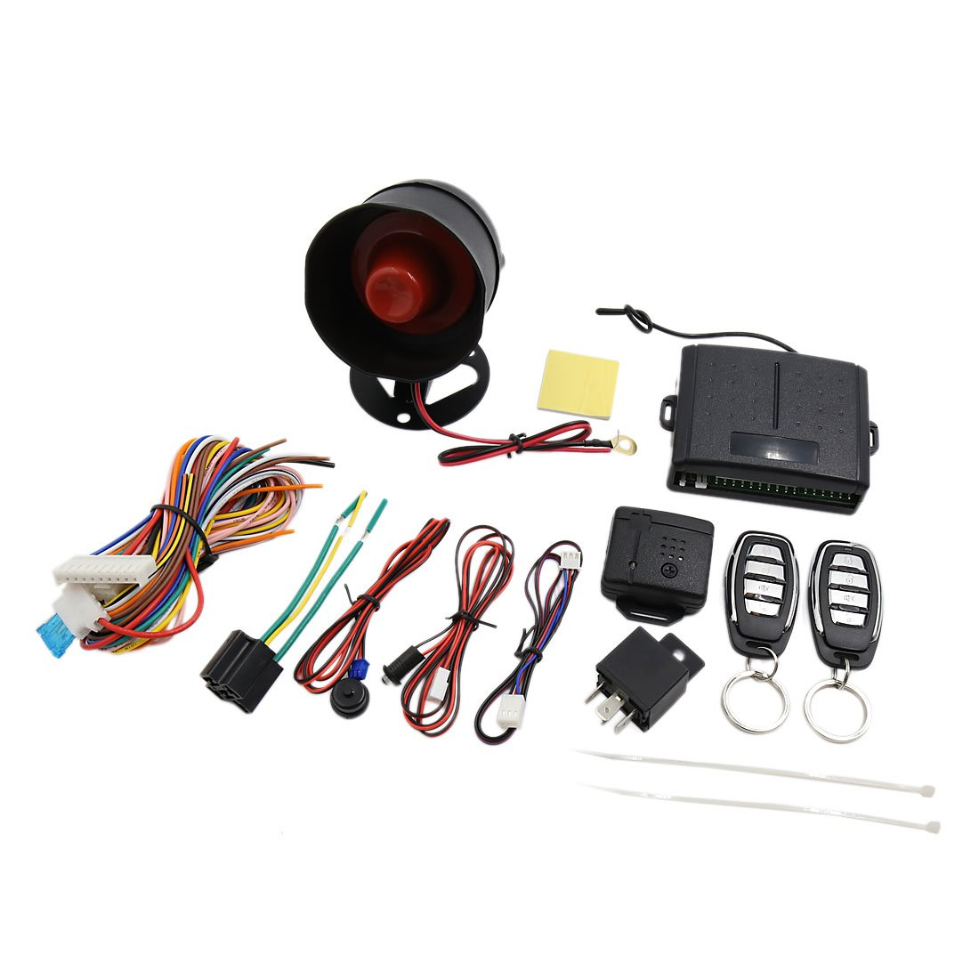 uxcell Car Alarm Security System Manual Reset Button Function Burglar Alarm Protection 12V
