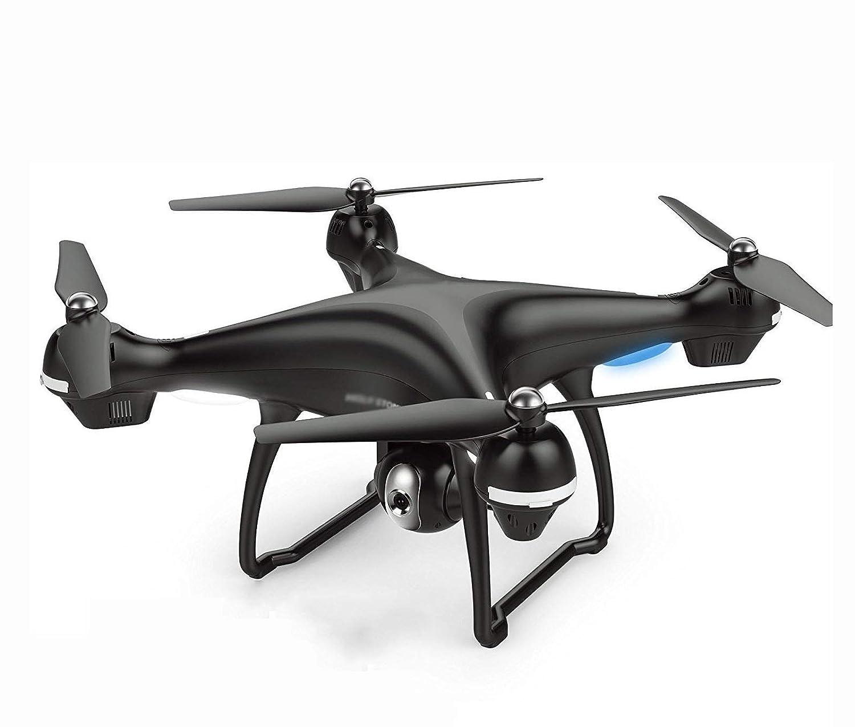 AA-SS Drohne mit Kamera, Live-Video und GPS-Heimkehr-Quadcopter mit verstellbarem Weitwinkel 720P HD (DREI Minuten und 75 Minuten)