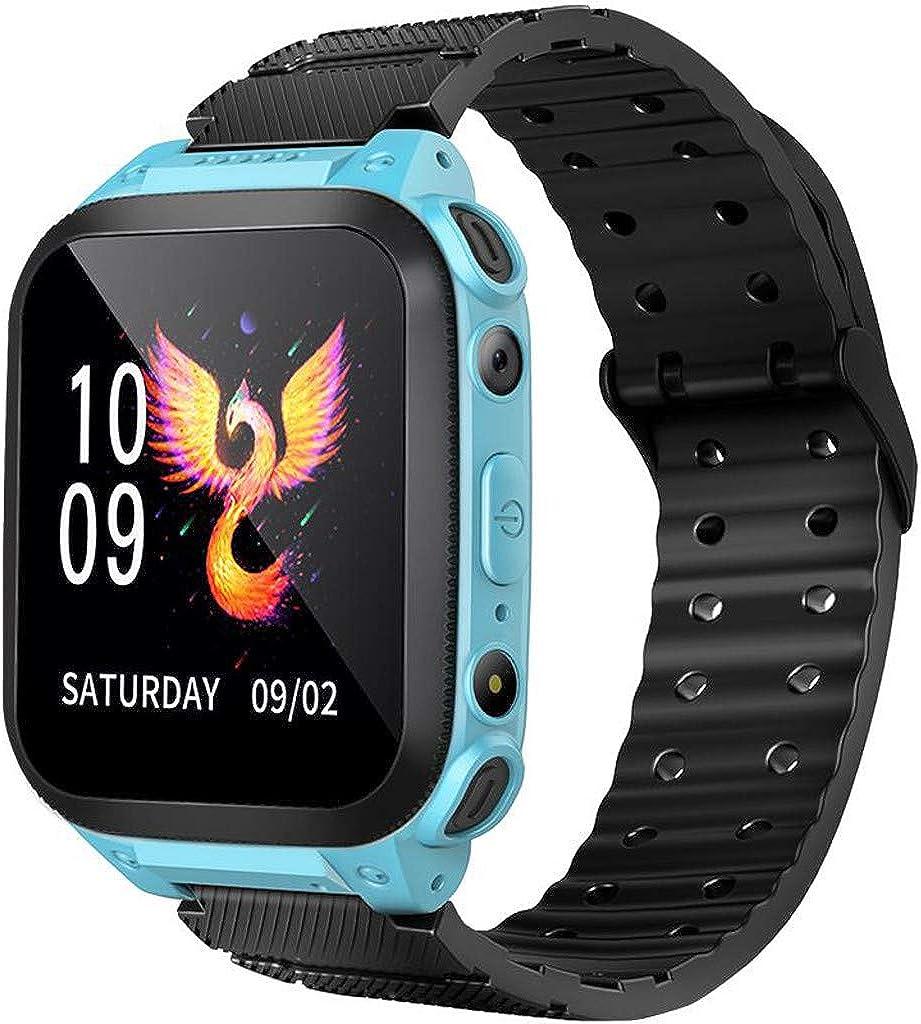Niños Smart Watch Phone,Reloj GPS Niños Localizador con SOS Anti-Lost Alarm Sim Ranura para Tarjeta Pantalla Táctil Smartwatch para 3-12 Años De Edad Regalo De Cumpleaños Niños Niñas