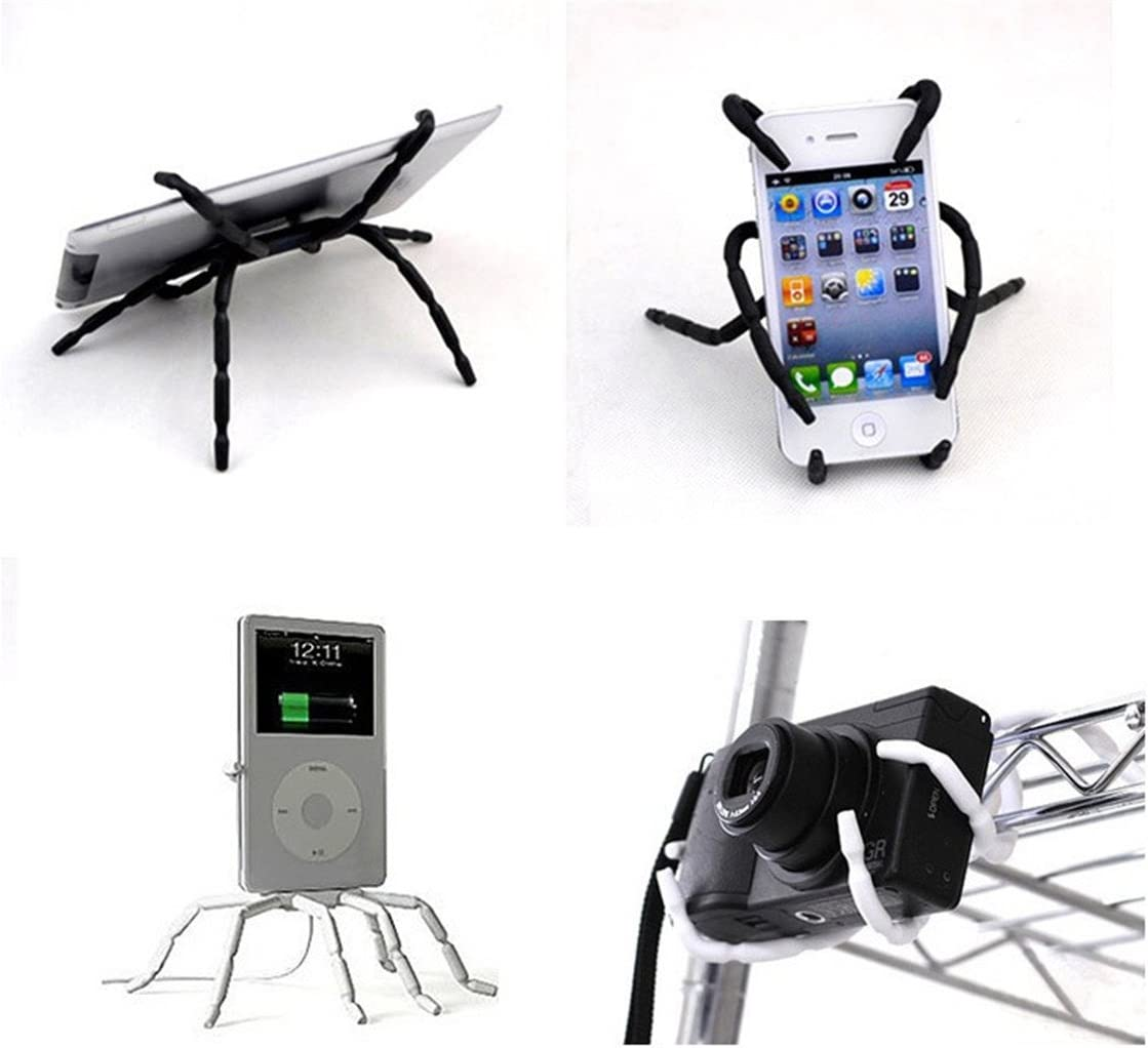 Portable Spider Flexible Cell Mobile Phone Holder Hanging Mount and Stand for iPod iPhone 4//4s//5//5s//6s//7//7s Samsung Galaxy Andriod Mp4 Misskt 2pcs Spiderpodium Tablet Stand