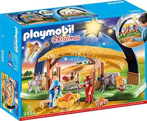 Playmobil – 9494 Giocattolo Presepe Illuminato, Multicolore, 9494
