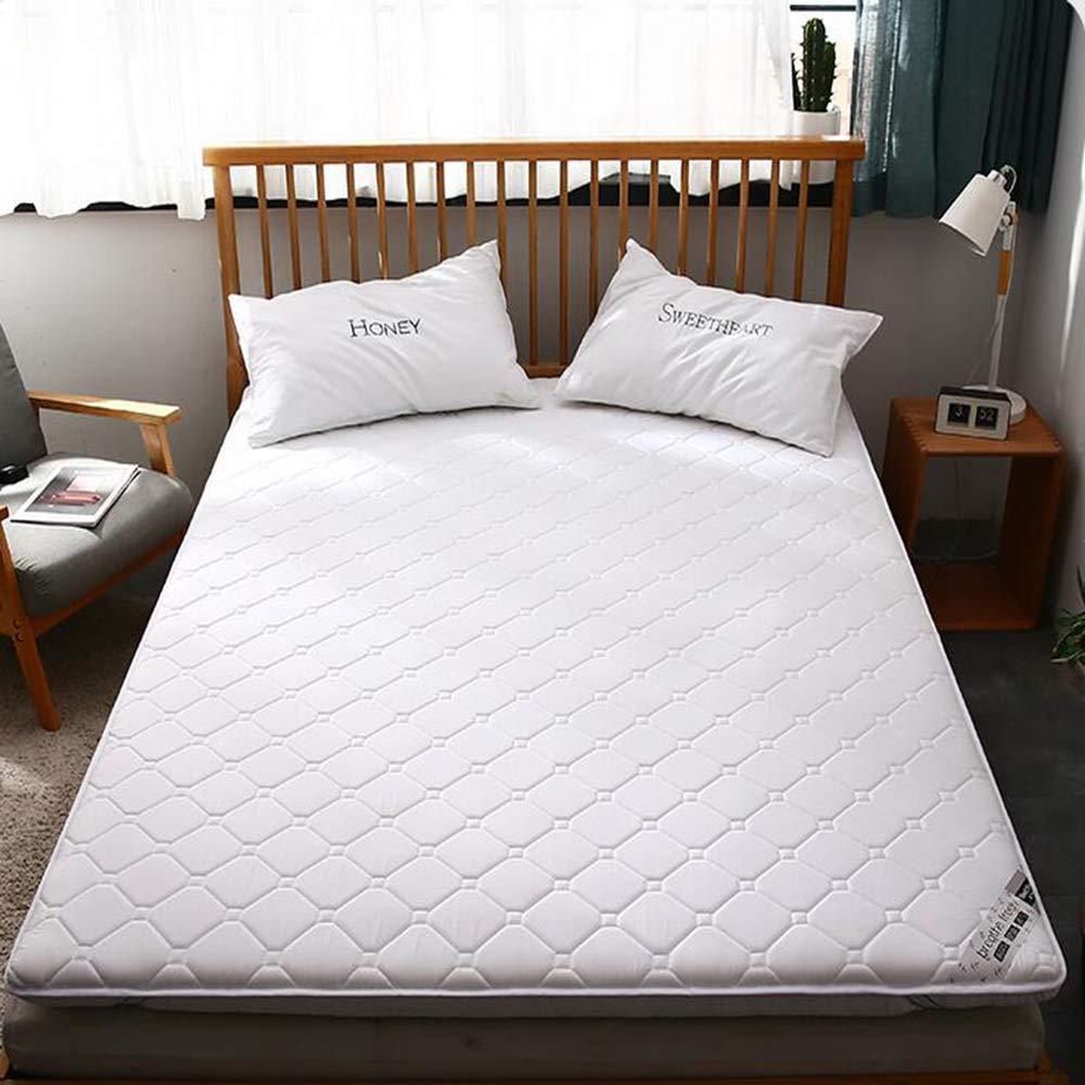 Love Home Tatami Matratzen-Auflage, japanische Vierjahreszeiten, atmungsaktiv, Blumen-Studenten-Schlafmatratze, Schaumstoff, weiß, 150x200cm(59x79inch)