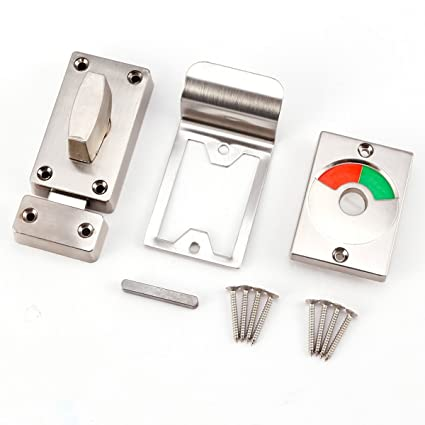 Surepromise Bathroom Toilet WC Indicator Privacy Dead Bolt Door Lock Latch  Vacant Engaged