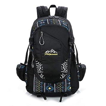 Mochilas Tipo Casual Correspondencia De Color Al Aire Libre con Bolsa De Alpinismo De Gran Capacidad, Negro: Amazon.es: Equipaje