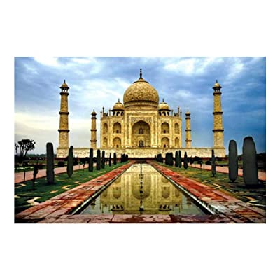 TiTCool Puzzles for Adults, Architecture Building Series - Taj Mahal Landscape Pattern 1000 Piece Jigsaw Puzzle Brain Teaser Intellectual Game Festival Gift: Toys & Games