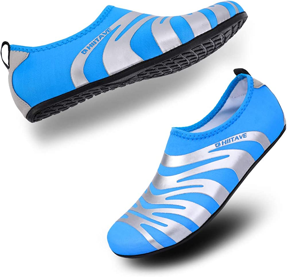 ALEADER Unisex Barefoot Beach Water Shoes Quick Drying Summer Outdoor Aqua Socks for Pool Swim Surf Yoga Exercise
