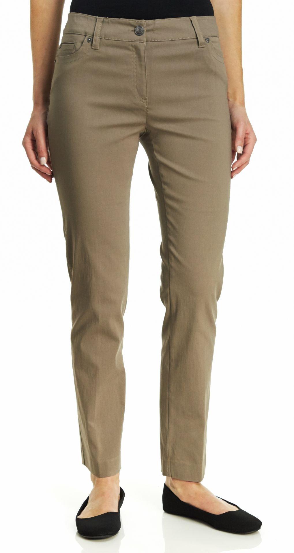 Zac & Rachel Women's Millenium Jeans, Taupe, 12
