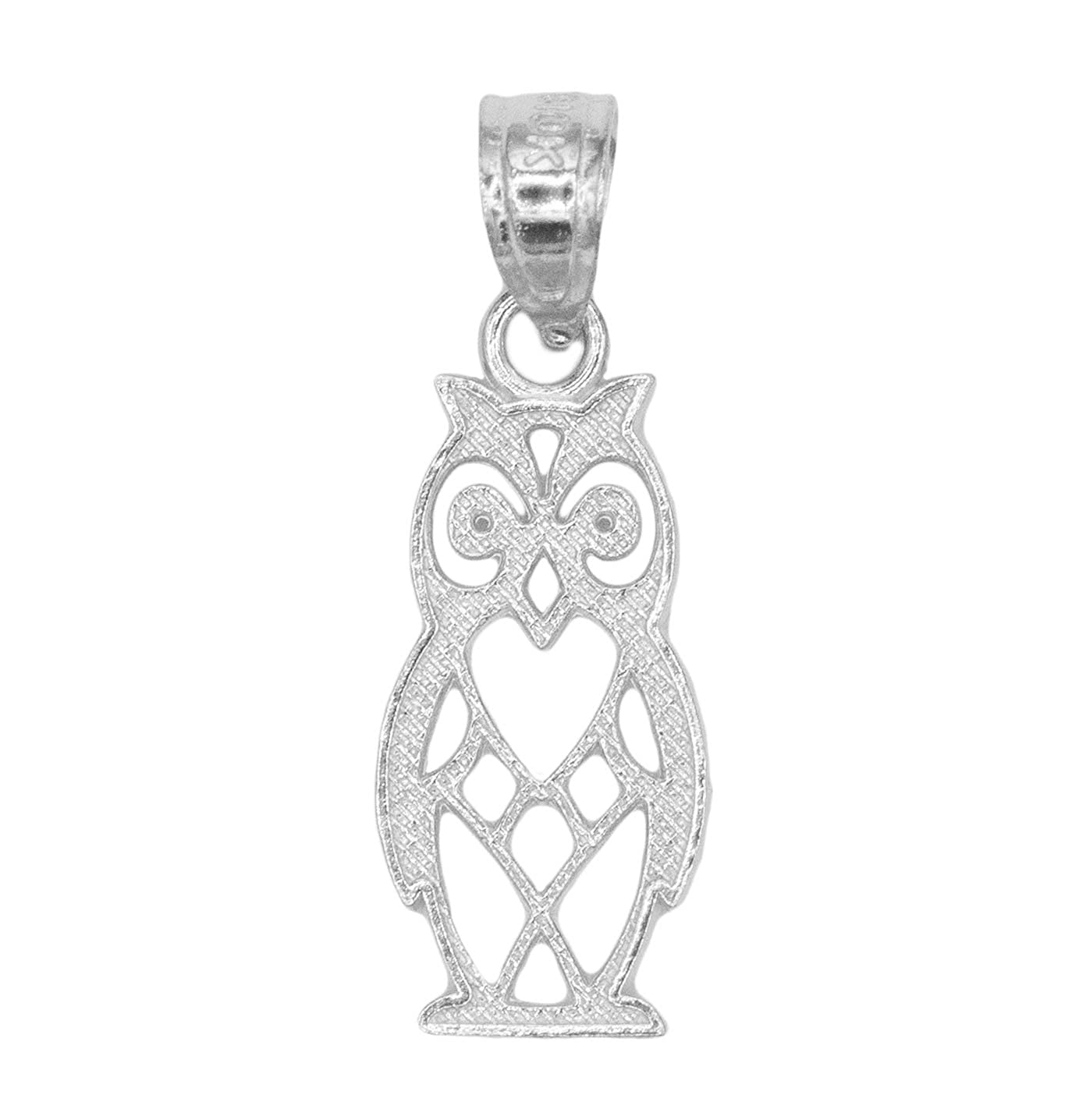 14k Solid Gold Owl Pendant Necklace Graduation Gifts for Students Symbol of Knowledge and Protection Jewelry Good Luck Charm