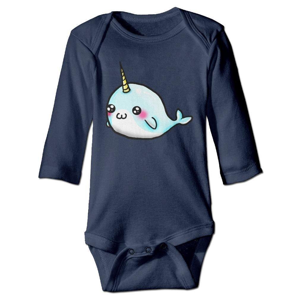 braeccesuit Infant Drawing Cartoon Whale Long Sleeve Romper Onesie Bodysuit Jumpsuit