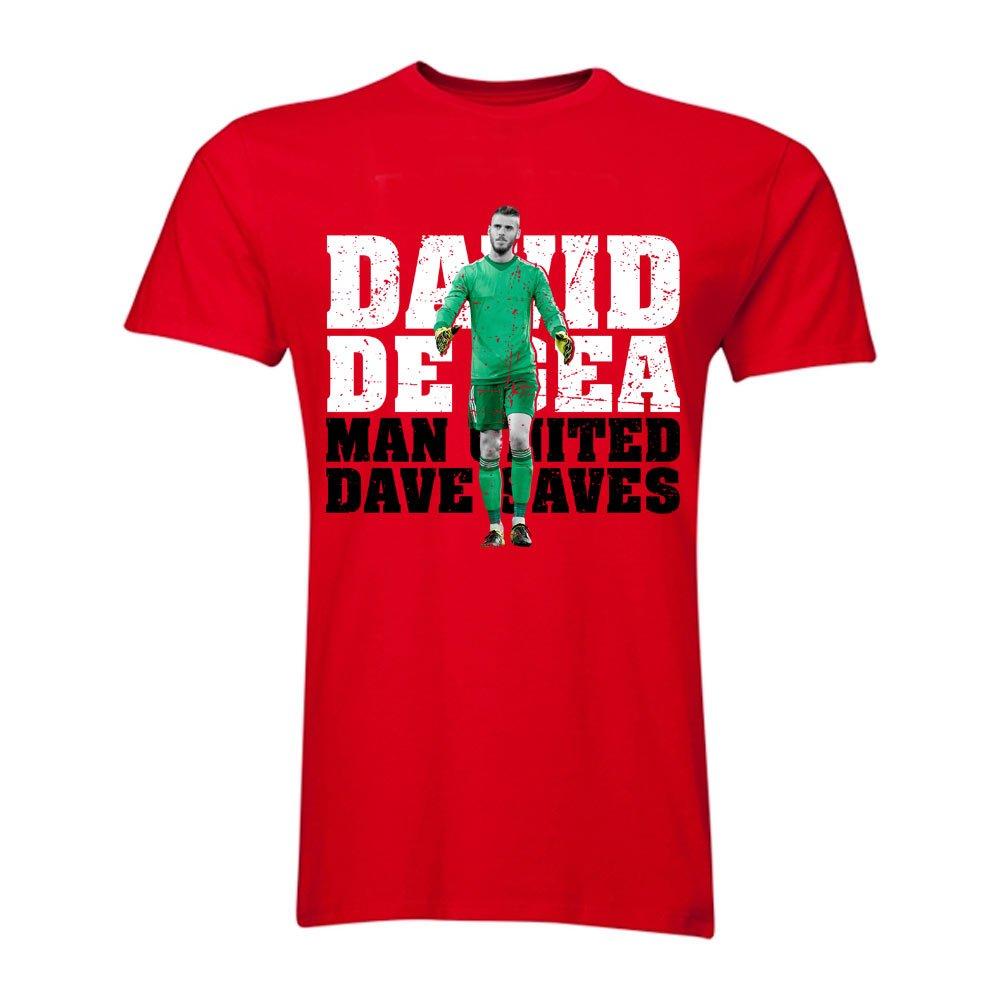 David De Gea Man United Goalkeeper T-Shirt (Red) Kids B0787TDVXZRed XLB (12-13 Years)