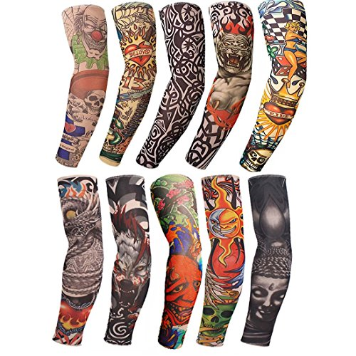 bc5ac14bb Arm Tattoo Sleeves Temporary Fake UV Arm Sleeves for Men Cover Body Art  Stockings Summer UV