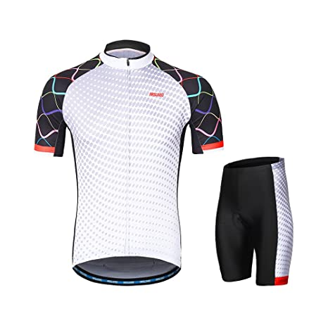 937cfab72 Image Unavailable. Image not available for. Color  Lixada ARSUXEO Men s  Cycling Clothing Set Short Sleeve Set Quick-Dry Shirt 3D Cushion Padded