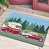 camper area rug - Pulling the Camper Going on Family Vacation 33 X 21 Inch Accent Throw Rug