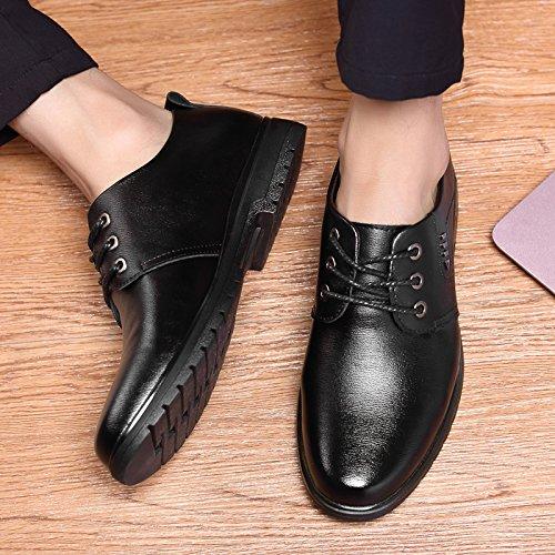 Show Shine Showshine Fun Mens Lace Up Business Oxfords Schoenen Zwart