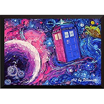 Uhomate Tardis Dr Who Doctor Telephone Booth Wall Decor Vincent Van Gogh Starry Night Posters Home