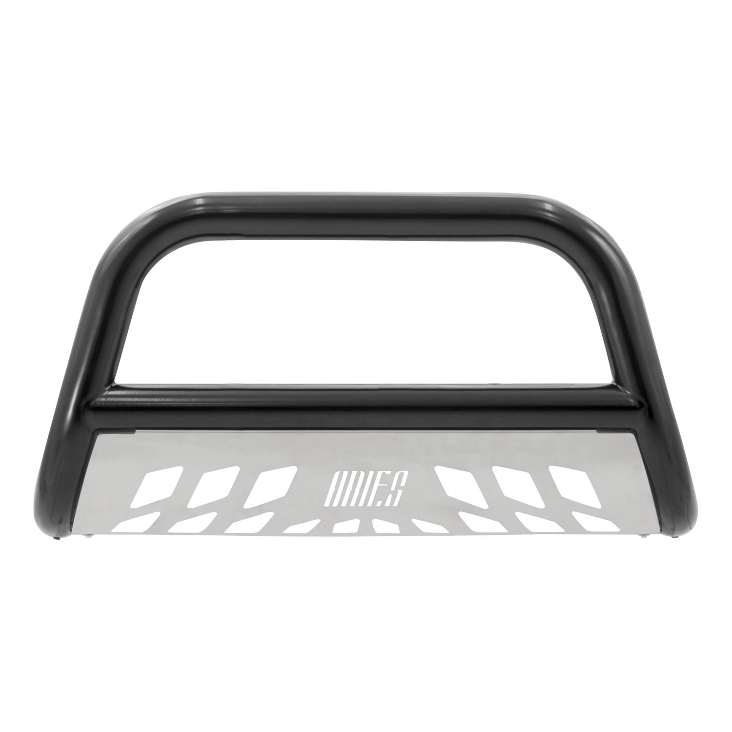 Aries Automotive B35-3007 Black Bull Bar with Stainless Steel Skid Plate