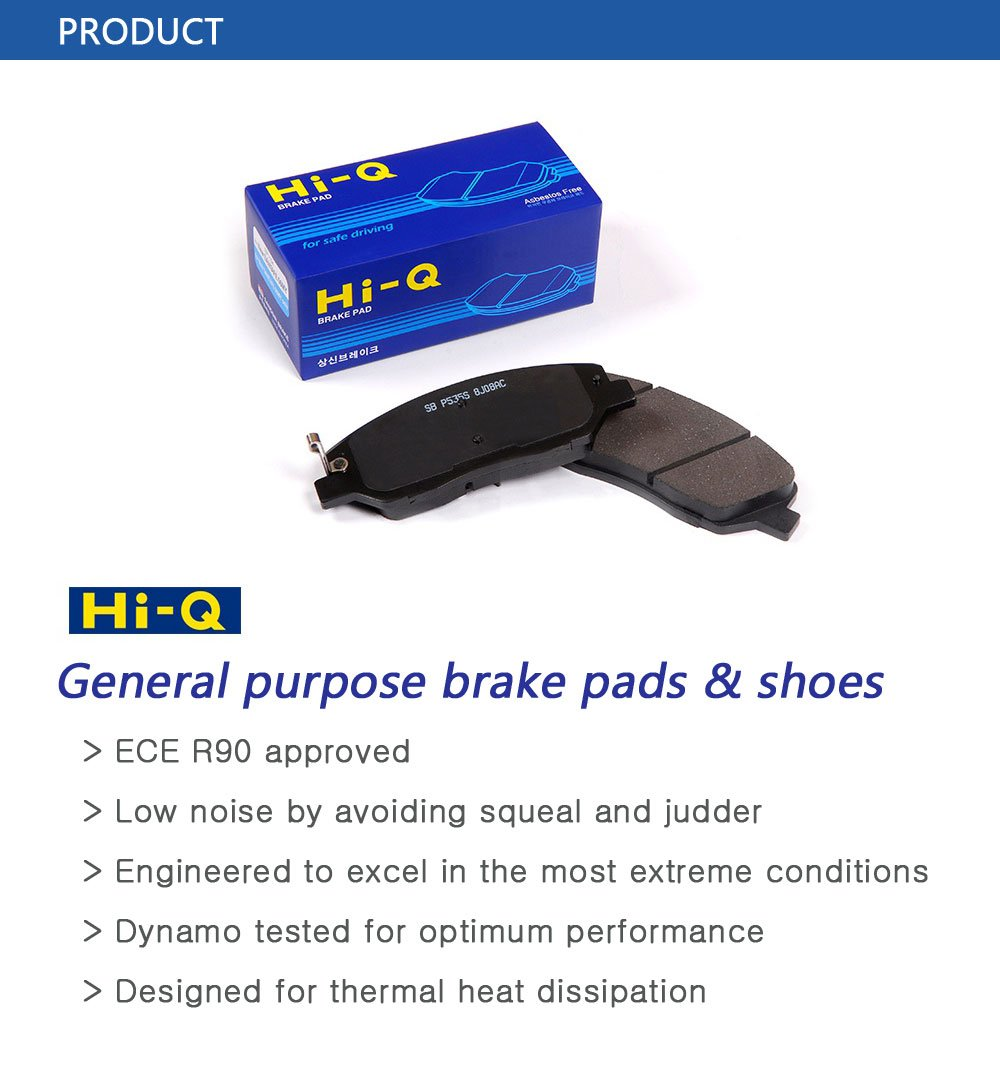 Sangsin Hi Q Premium Ceramic Brake Pads Sp2042d835 Squeaking Noise When Brakes Applied Car Judders Sp2042d835superior Performance Low Dust Constant Quality Rear For Toyota Camry